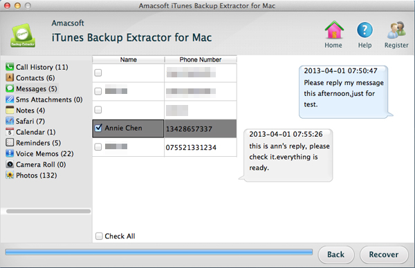 How to Extract Text Messages (SMS) from iPhone Backup on iTunes