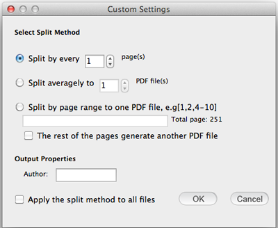 choose pages to extract