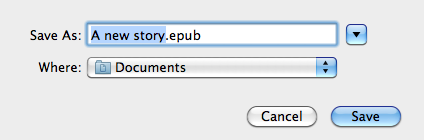 select a destination for converting pictures to epub on mac