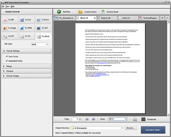 the interface of the epub to mobi converter