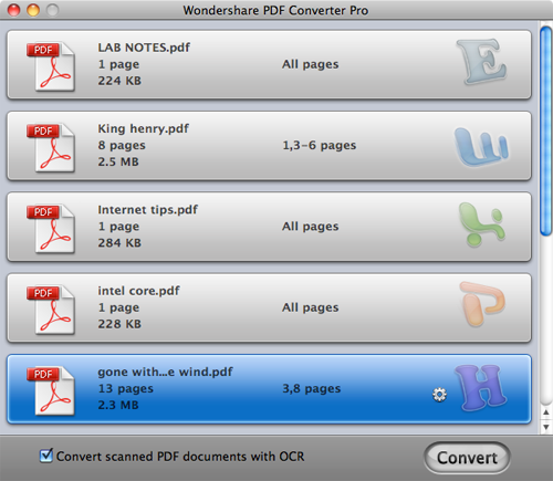 add protected pdf files to change restricted pdf files to doc on mac
