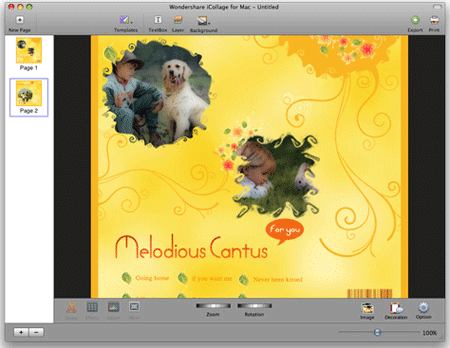 add photos for creating a cd cover for mac