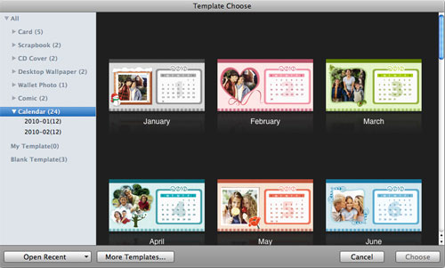 make personalized baby calendar on mac