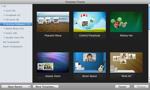 choose template to create photo collage wallpaper for mac