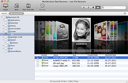 mac usb flash drive recovery previews screen