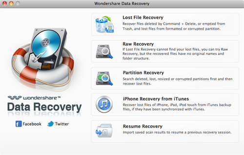 mac 3gp video recovery main interface