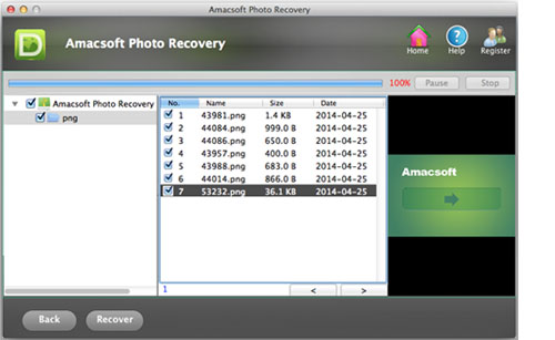 canon digital image recovery for mac file location screen