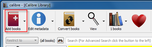 add books to calibre to convert