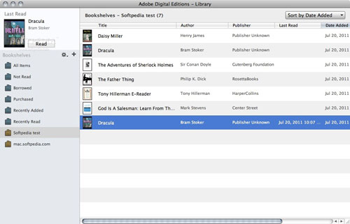 adobe digital editions is a free epub reader for mac