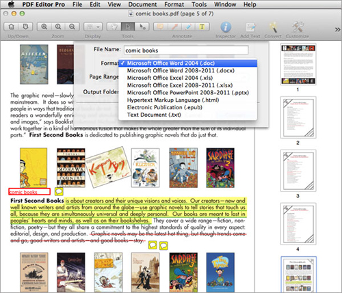 convert scanned pdf on mac