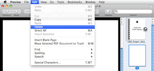 remove pages from a pdf file on mac with preview