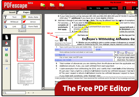 free online pdf comments adding tool