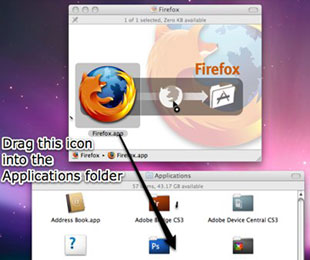 take firefox as an example to set up software in mac
