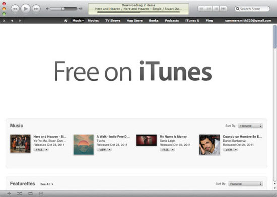 downloading movies from itunes for free