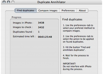 delete duplicate iphoto pictures