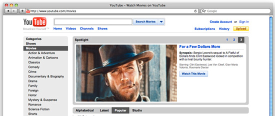 enjoy free movies on mac from youtube