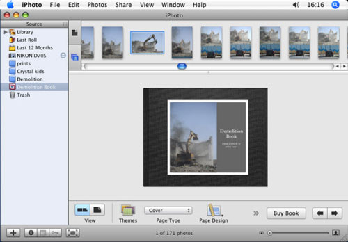 build photo book with iphoto