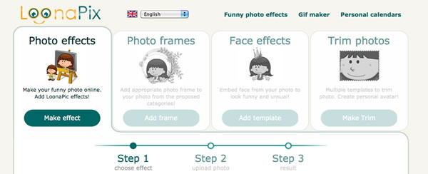 online photo effects making tool